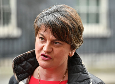 DUP leader Arlene Foster says her party will not accepted the reported deal.