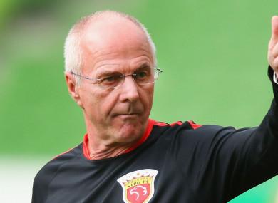 Sven-Goran Eriksson has been unattached since being fired by Chinese club Shenzhen.
