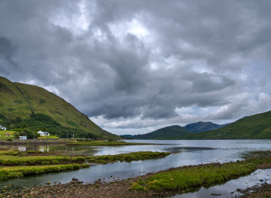 Killary Harbour at Leenane in Connemara.