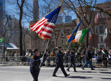 File photo. St Patrick's Day parade in New York City.