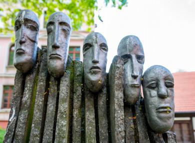 The Sleeping Knights sculpture in Bydgoszcz, Poland.