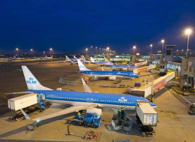 Schiphol Airport, Netherlands.