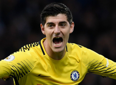 Chelsea goalkeeper Thibaut Courtois.