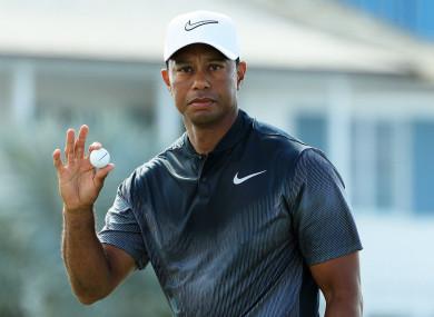 14-time major champion Tiger Woods.