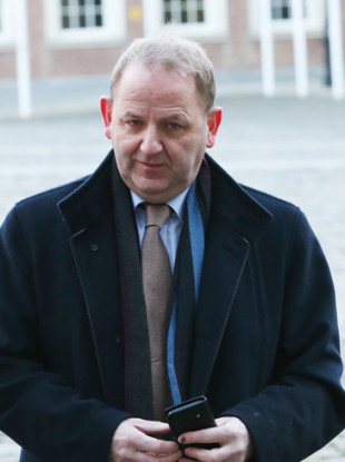 Maurice McCabe arrives at the Tribunal today.