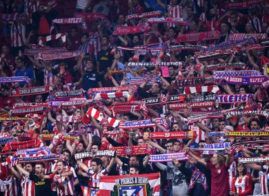 Atletico Madrid fans (file pic).