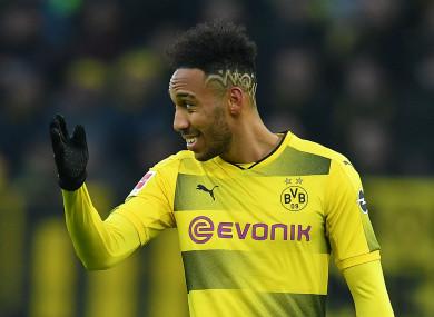 Pierre-Emerick Aubameyang at Borussia Dortmund.