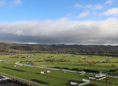 A general view of the Cheltenham Racecourse.