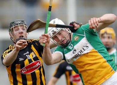 Kilkenny's Enda Morrissey in action against Offaly's Oisin Kelly.
