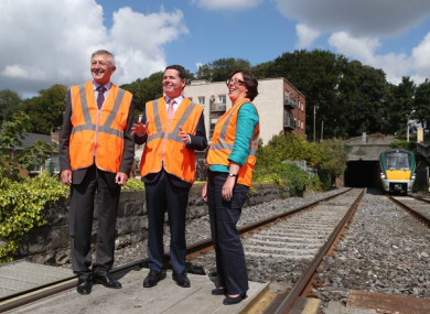 David Franks alongside Finance Minister Paschal Donohoe and Anne Graham, CEO of the NTA.