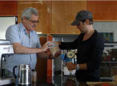 A screenshot of the movie 'Icarus,' with Rodchenkov (left) pictured alongside director Bryan Fogel.