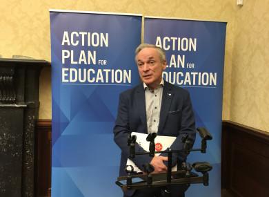 Minister for Education Richard Bruton