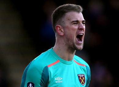Joe Hart is no longer the first-choice goalkeeper at West Ham.