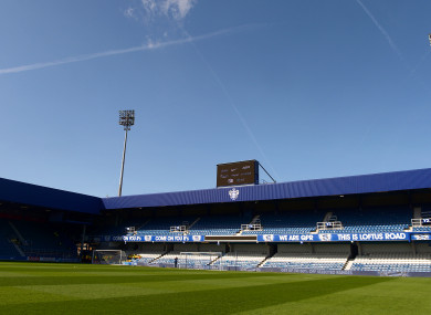 File photo dated 12-04-2015 of a general view of Loftus Road, home of Queens Park Rangers.