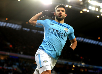 Aguero scored twice in two minutes to turn the tie on its head.