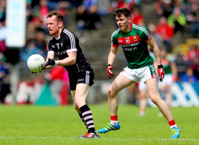 Breheny and Fergal Boland of Mayo during last year's Connacht championship quarter-final.
