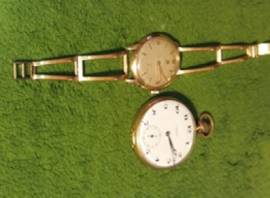 Some of the watches which were stolen.