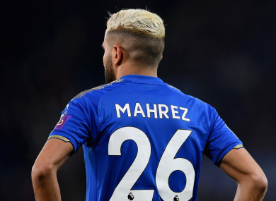 Staying put: Mahrez.