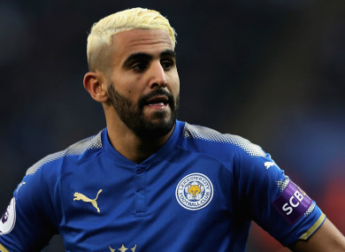 Riyad Mahrez has been linked with a move to Liverpool recently.