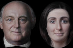 The casts of Swift and Johnson's death masks