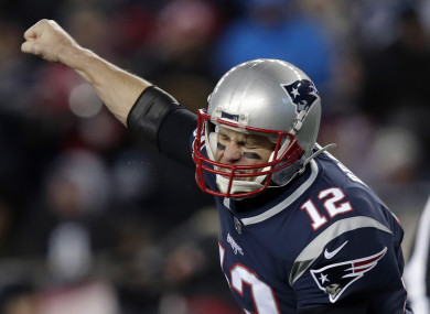 Brady celebrates another touchdown throw.