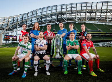 Players pictured at the 2018 SSE Airtricity League Season Launch earlier this week.