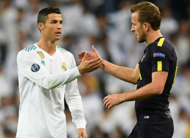 Cristiano Ronaldo and Harry Kane.