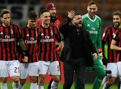 AC Milan head coach Gennaro Gattuso.