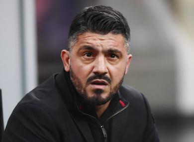 AC Milan manager Gennaro Gattuso.