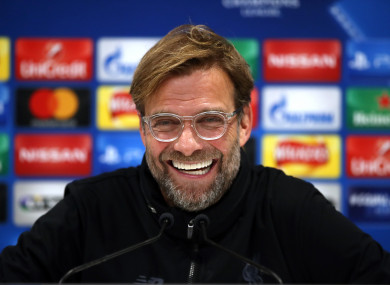 Reds boss Jurgen Klopp.