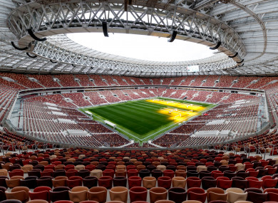 Luzhniki Stadium in Moscow.
