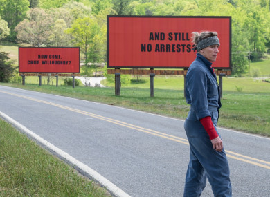 Frances McDormand in 'Three Billboards'