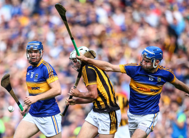 Jason Forde and John McGrath in action in the 2016 All-Ireland final against Kilkenny.