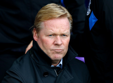 Koeman left Everton in October.