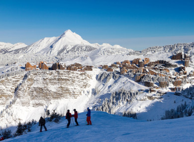 The boys were found at the foot of a 150-metre cliff in a forest at the Avoriaz ski resort.