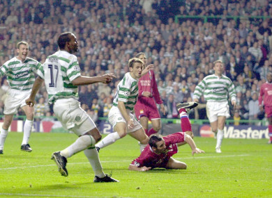 Miller scores against Lyon in 2003.