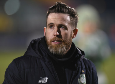 Stephen Bradley pictured during last night's game.