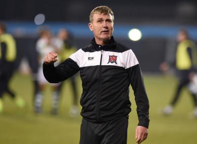 Stephen Kenny pictured at Tallaght Stadium last night.