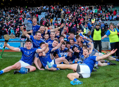 The Ardmore team celebrate at Croke Park.