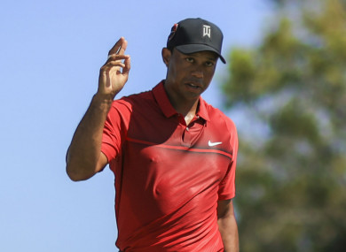 Tiger Woods during the final round of the Honda Classic