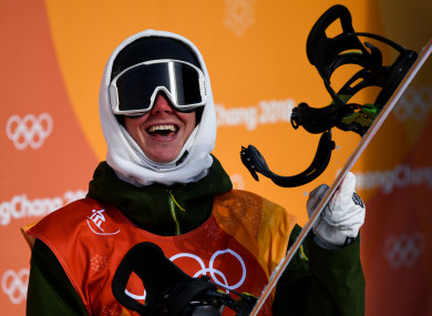 Seamus O'Connor of Ireland pictured after completing round 1 of the Halfpipe Qualifications.