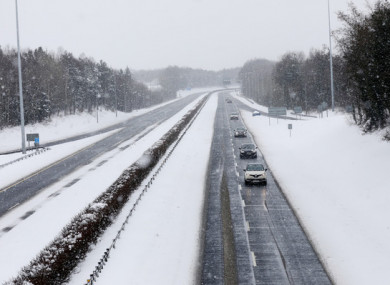 The M7 near Newbridge, Co Kildare today.