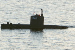 Swedish journalist Kim Wall allegedly stands next to a man in the tower of the private submarine
