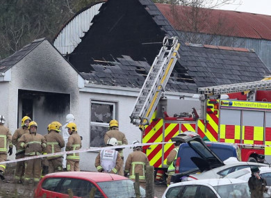 Emergency services at the house in Derrylin, Fermanagh last week