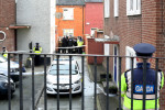 Gardaí at the scene of the shooting of Jusan 'Buda' Molyneux in Dublin's north inner city.