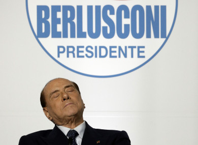 Even if his coalition wins the election, Berlusconi can't take office because of his fraud conviction.