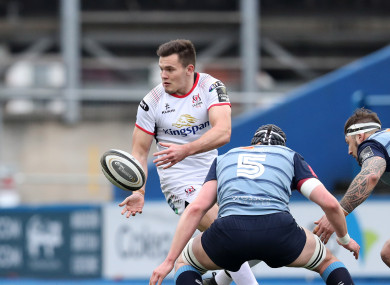 Jacob Stockdale's scoring run came to an end back in provincial colours.