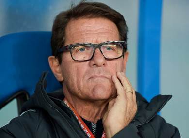 Fabio Capello (file pic).