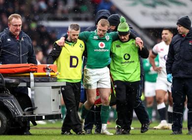 Earls sustained the injury at Twickenham.