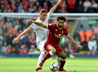 Man United midfielder Nemanja Matic and Liverpool's top scorer Mohamed Salah.